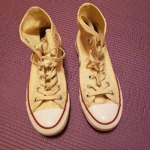 Converse all star ivory high tops size 7